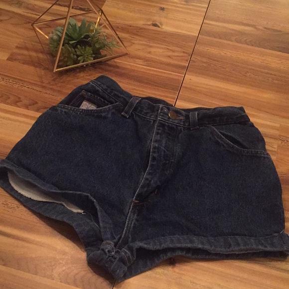Wrangler Pants - High waisted denim shorts